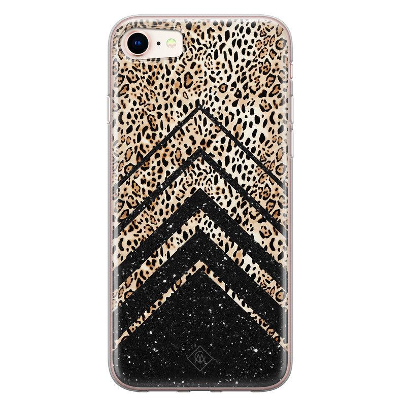 Casimoda iPhone 8/7 siliconen hoesje - Chevron luipaard