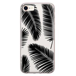 Casimoda iPhone 8/7 siliconen hoesje - Palm leaves silhouette