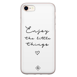 Casimoda iPhone 8/7 siliconen hoesje - Enjoy life