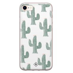 Casimoda iPhone 8/7 siliconen hoesje - Cactus print