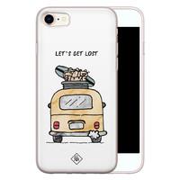 Casimoda iPhone 8/7 siliconen hoesje - Let's get lost
