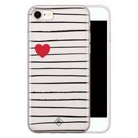 Casimoda iPhone 8/7 siliconen hoesje - Heart queen