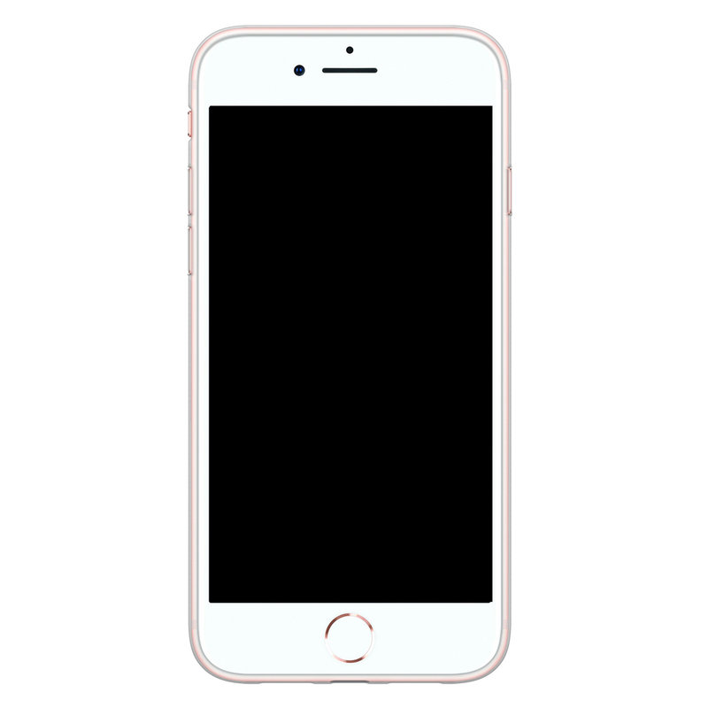 Casimoda iPhone 8/7 siliconen telefoonhoesje - Palm leaves silhouette