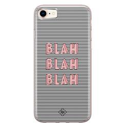 Casimoda iPhone 8/7 siliconen hoesje - Blah blah blah