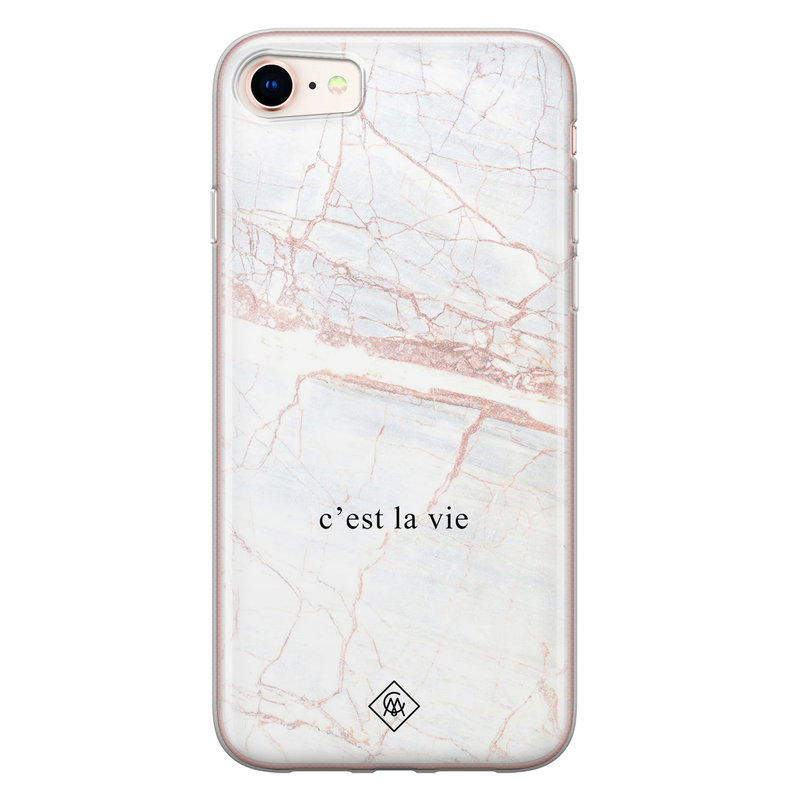 Casimoda iPhone 8/7 siliconen telefoonhoesje - C'est la vie