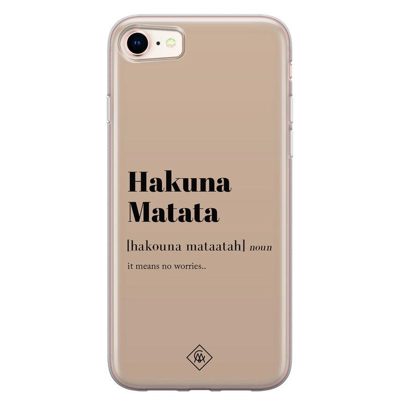 Casimoda iPhone 8/7 siliconen hoesje - Hakuna matata