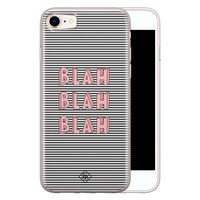 Casimoda iPhone 8/7 siliconen telefoonhoesje - Blah blah blah