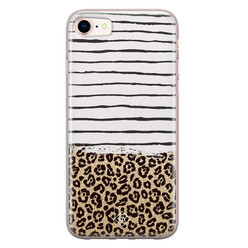Casimoda iPhone 8/7 siliconen hoesje - Leopard lines