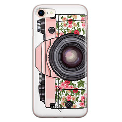 Casimoda iPhone 8/7 siliconen hoesje - Hippie camera