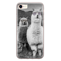 Casimoda iPhone 8/7 siliconen hoesje - Llama hipster