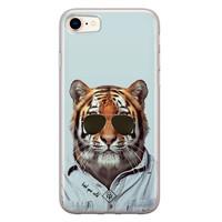 Casimoda iPhone 8/7 siliconen hoesje - Tijger wild