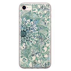Casimoda iPhone 8/7 siliconen hoesje - Mandala blauw