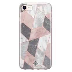 Casimoda iPhone 8/7 siliconen hoesje - Stone grid