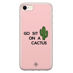 Casimoda iPhone 8/7 siliconen hoesje - Go sit on a cactus