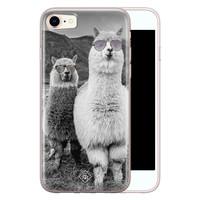 Casimoda iPhone 8/7 siliconen telefoonhoesje - Llama hipster