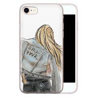 Casimoda iPhone 8/7 siliconen hoesje - GRL PWR