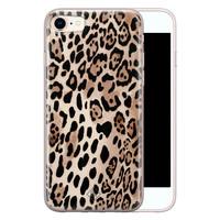 Casimoda iPhone 8/7 siliconen hoesje - Golden wildcat