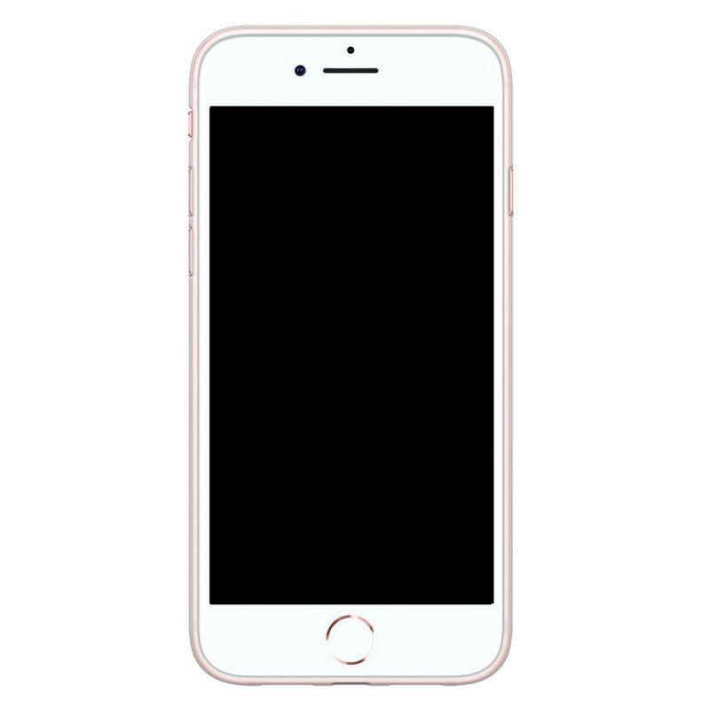 Casimoda iPhone 8/7 siliconen hoesje - Marmer blauw goud
