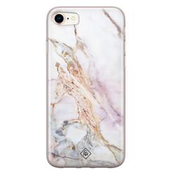 Casimoda iPhone 8/7 siliconen hoesje - Parelmoer marmer