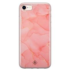 Casimoda iPhone 8/7 siliconen hoesje - Marmer roze