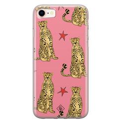 Casimoda iPhone 8/7 siliconen hoesje - The pink leopard