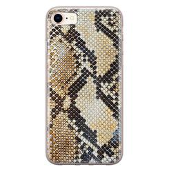 Casimoda iPhone 8/7 siliconen hoesje - Golden snake