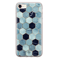 Casimoda iPhone 8/7 siliconen hoesje - Blue cubes