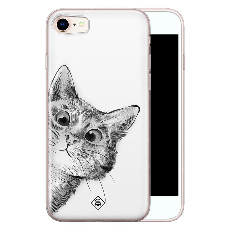Casimoda iPhone 8/7 siliconen hoesje - Peekaboo