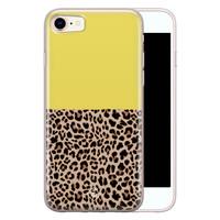 Casimoda iPhone 8/7 siliconen hoesje - Luipaard geel