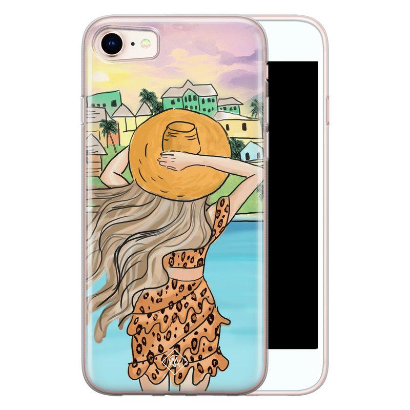 Casimoda iPhone 8/7 siliconen hoesje - Sunset girl