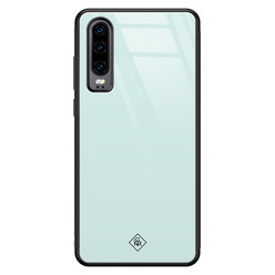 Casimoda Huawei P30 glazen hardcase - Pastel blauw