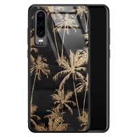 Casimoda Huawei P30 glazen hardcase - Palmbomen