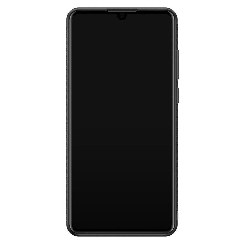 Casimoda Huawei P30 glazen hardcase - Luipaard marmer mint