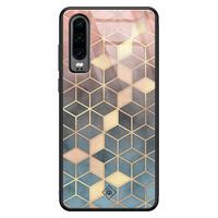 Casimoda Huawei P30 glazen hardcase - Cubes art
