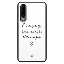 Casimoda Huawei P30 glazen hardcase - Enjoy life