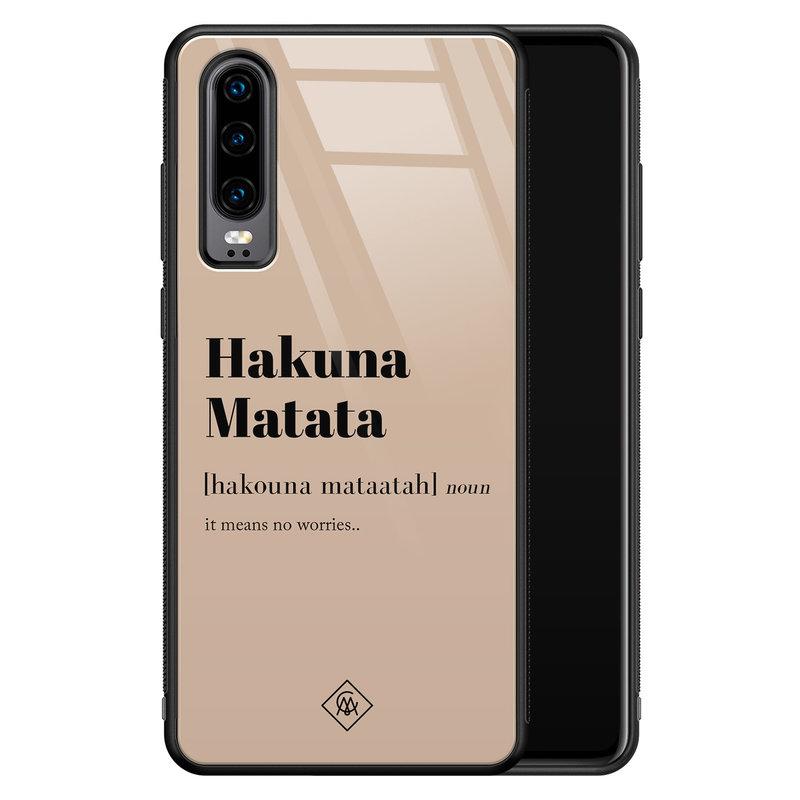 Casimoda Huawei P30 glazen hardcase - Hakuna Matata