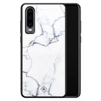 Casimoda Huawei P30 glazen hardcase - Marmer grijs
