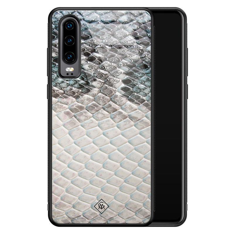 Casimoda Huawei P30 glazen hardcase - Oh my snake