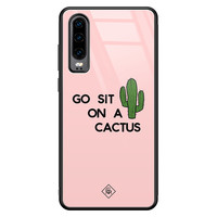 Casimoda Huawei P30 glazen hardcase - Go sit on a cactus