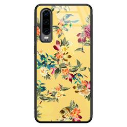 Casimoda Huawei P30 glazen hardcase - Florals for days