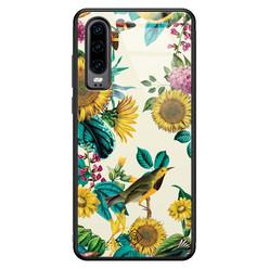 Casimoda Huawei P30 glazen hardcase - Sunflowers