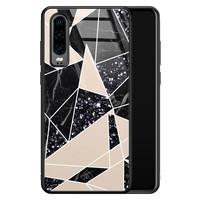 Casimoda Huawei P30 glazen hardcase - Abstract painted