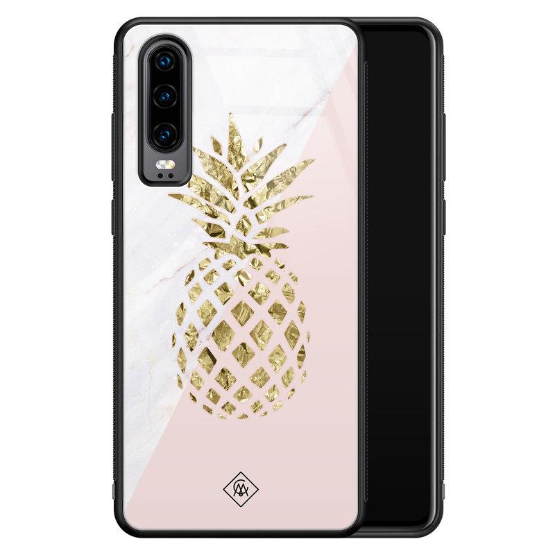 Casimoda Huawei P30 glazen hardcase - Ananas