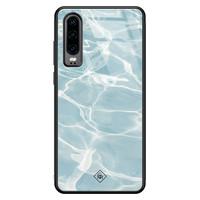 Casimoda Huawei P30 glazen hardcase - Oceaan
