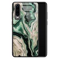 Casimoda Huawei P30 glazen hardcase - Green waves