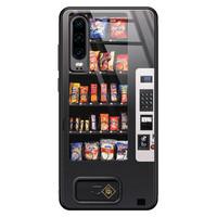Casimoda Huawei P30 glazen hardcase - Snoepautomaat