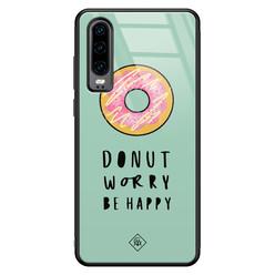 Casimoda Huawei P30 glazen hardcase - Donut worry