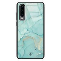 Casimoda Huawei P30 glazen hardcase - Touch of mint