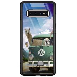 Casimoda Samsung Galaxy S10 glazen hardcase - Lama adventure