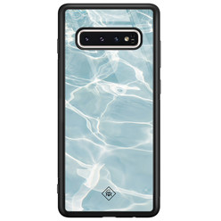 Casimoda Samsung Galaxy S10 glazen hardcase - Oceaan